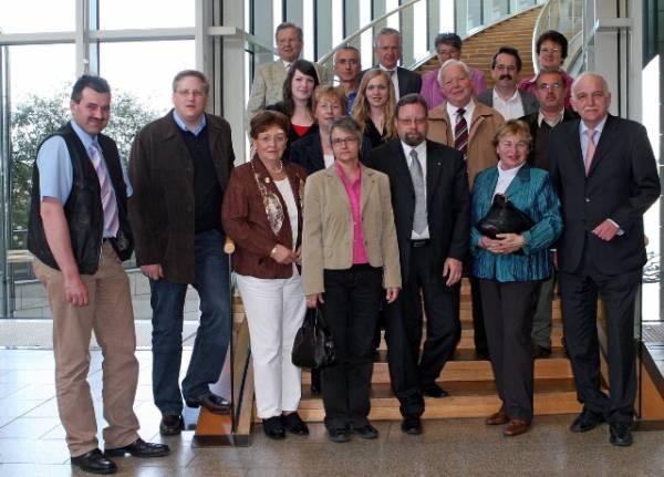 Bernhard Schemmer MdL mit seinen Gästen aus dem Kreis Borken