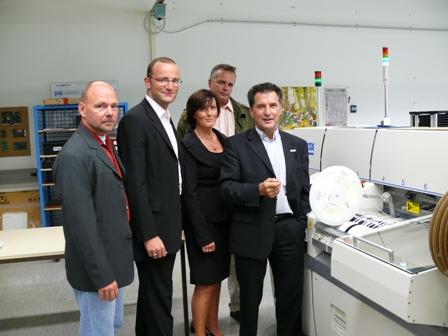 Auf dem Bild Jens Spahn, Martina Schrage, Ralf-Udo Blöding, Markus Schulte und Wolfgang Klar von der EPRO